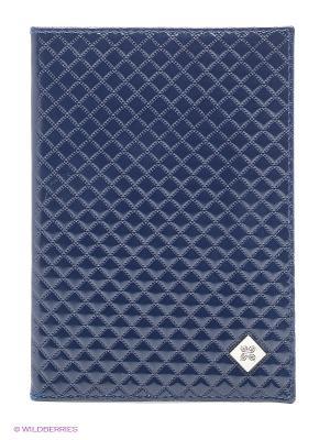 Обложка для паспорта Dimanche. Цвет: синий