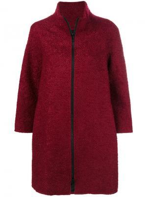 Пальто на молнии Gianluca Capannolo. Цвет: розовый и фиолетовый