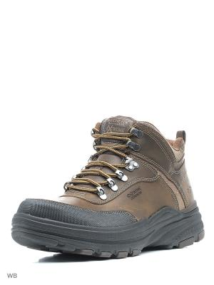 Ботинки SKECHERS. Цвет: темно-коричневый