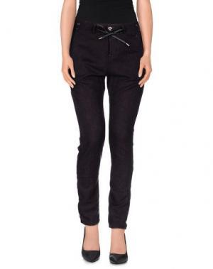 Повседневные брюки JFOUR. Цвет: темно-фиолетовый
