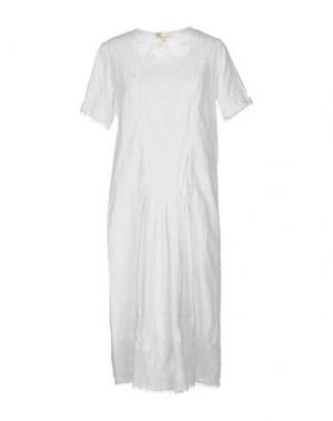 Платье до колена LOCAL APPAREL. Цвет: белый