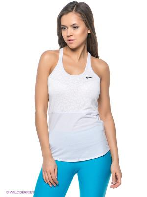Топ DF COOL BURNOUT TANK Nike. Цвет: белый, голубой
