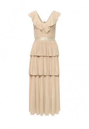 Платье Paccio. Цвет: бежевый