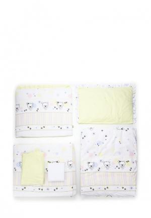 Постельное белье Сонный Гномик. Цвет: желтый
