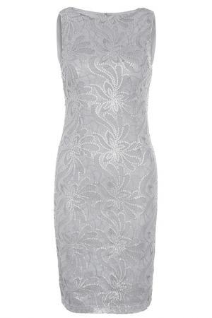 Платье с блёстками Apart. Цвет: серебристо-серый
