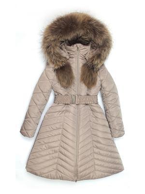 Пальто Cleverly. Цвет: бронзовый