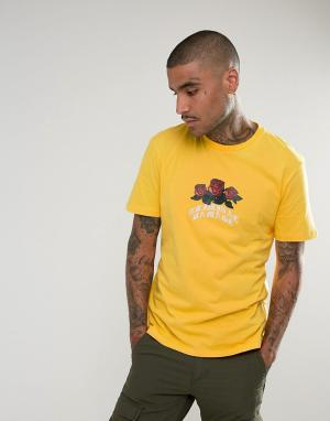 Criminal Damage Жёлтая футболка с логотипом. Цвет: желтый