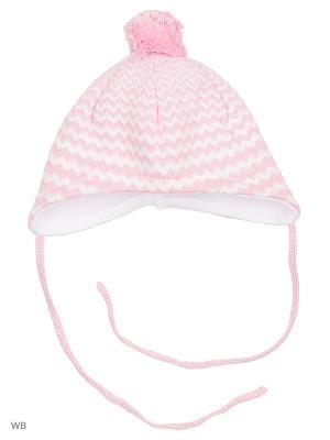 Шапка MAXIMO. Цвет: бледно-розовый, белый