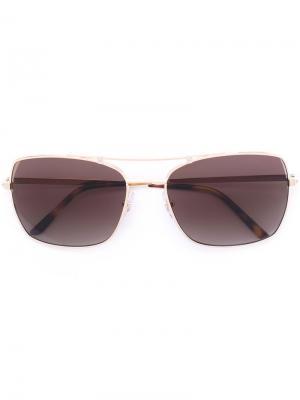 Солнцезащитные очки Santos Cartier. Цвет: металлический