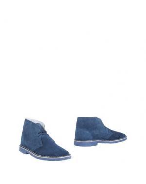 Полусапоги и высокие ботинки BRAWN'S. Цвет: грифельно-синий