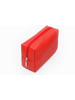 Косметичка-несессер Norton (200х75х110мм) (красный карбон) Norton.. Цвет: красный