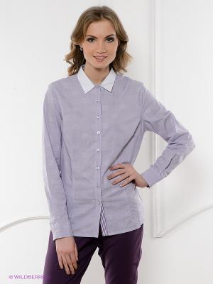 Рубашка ZENDRA. Цвет: сиреневый