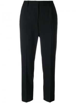 Укороченные брюки с полоской по бокам Dolce & Gabbana. Цвет: чёрный