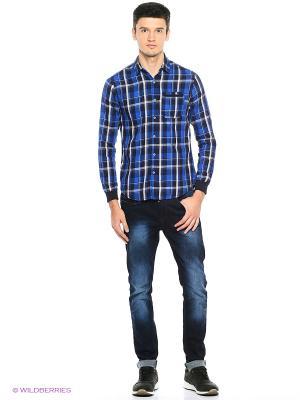 Рубашка Reserved. Цвет: синий