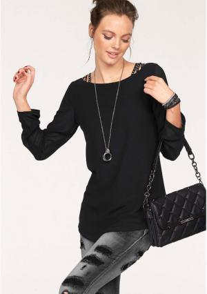 Блузка MELROSE. Цвет: черный