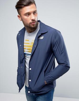 New Balance Темно-синяя спортивная куртка MJ71529_NV. Цвет: темно-синий