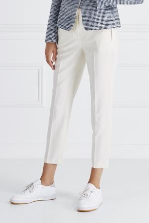 Шелковые брюки Jonofui. Цвет: белый