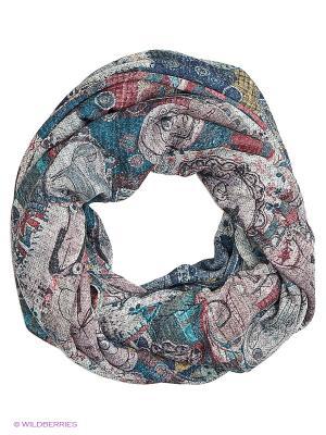 Двойной круглый шарф Мебиус Оланж Ассорти. Цвет: голубой