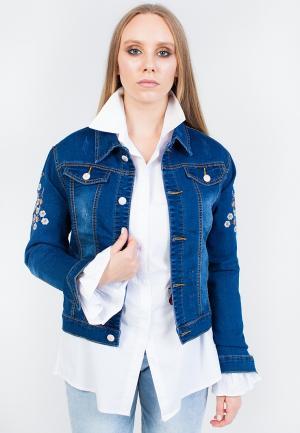 Куртка джинсовая Marissimo. Цвет: синий