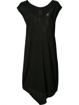 Платье-футболка с прозрачными вставками Thom Krom. Цвет: чёрный