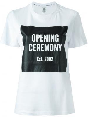 Футболка с принтом логотипа Opening Ceremony. Цвет: белый