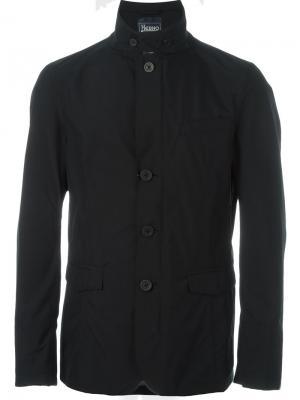 Куртка-блейзер на молнии Herno. Цвет: чёрный