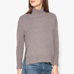 Пуловер с воротником-стойкой POMANDERE. Цвет: серый