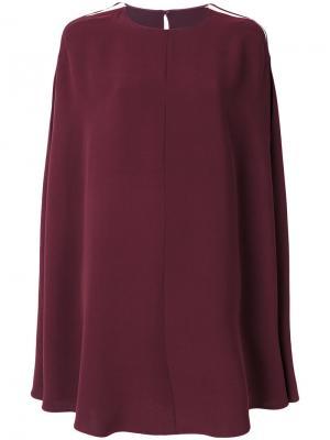 Платье в стиле кейп Valentino. Цвет: красный