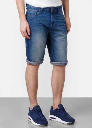 Джинсовые шорты OSTIN. Цвет: светло-синий