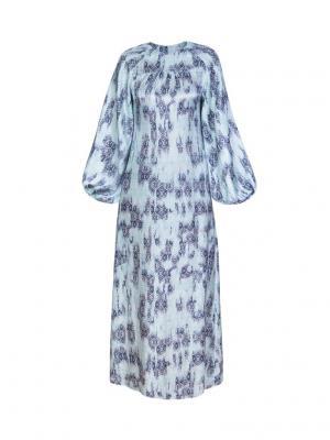 Платье макси прямое с пышным рукавом Bella kareema