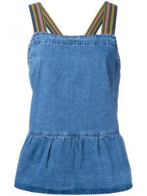 Блузка Rango Pinafore Mih Jeans. Цвет: синий