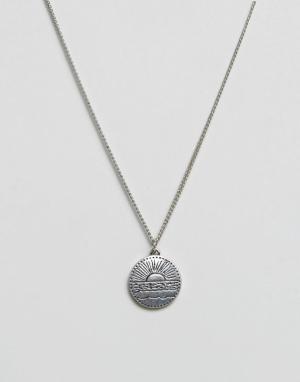 Classics 77 Серебристое ожерелье с круглой подвеской. Цвет: серебряный