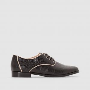 Ботинки-дерби с анималистичным рисунком ALEXIS MELLOW YELLOW. Цвет: черный