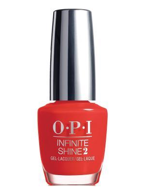 Opi Infinite Shine Лак для ногтей Cant Tame a Wild Thing, 15 мл. Цвет: красный