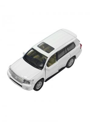 Машинка Toyota Land Cruiser, Белая (1:41-1:32) (PS-0616401-W) Pit Stop. Цвет: белый
