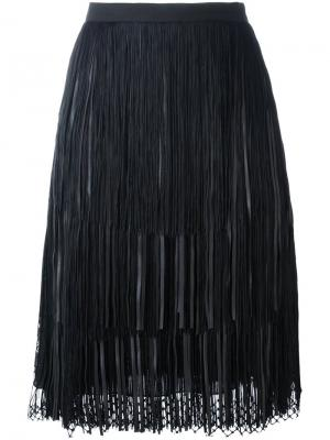 Плиссированная юбка Elie Saab. Цвет: чёрный
