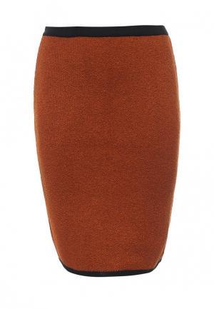 Юбка Milana Style. Цвет: оранжевый