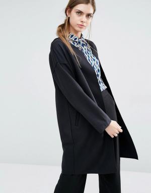 Suncoo Пальто-накидка Evie. Цвет: черный