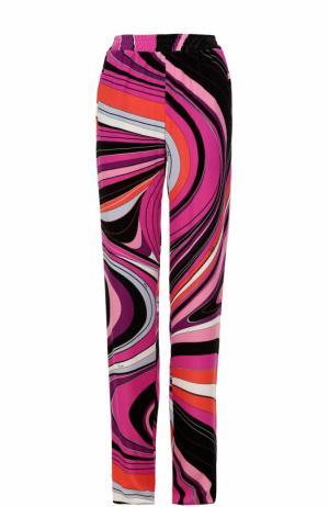 Брюки прямого кроя с принтом и эластичным поясом Emilio Pucci. Цвет: разноцветный