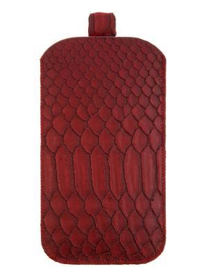 Чехол сумка iphone 5 кожа IQ Format. Цвет: красный