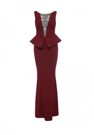 Платье Goddiva. Цвет: бордовый