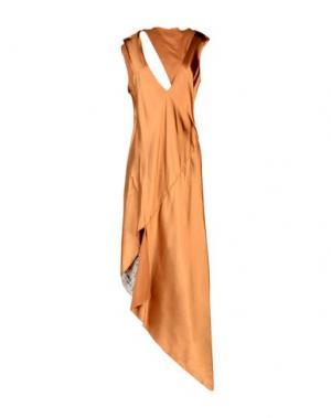 Платье длиной 3/4 AKEP. Цвет: верблюжий