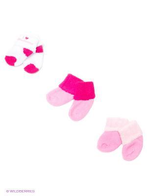 Носочки (3 пары) Luvable Friends. Цвет: фуксия, розовый, белый