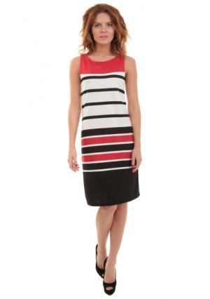 Платье Y.O.U.. Цвет: черный/белый/красный
