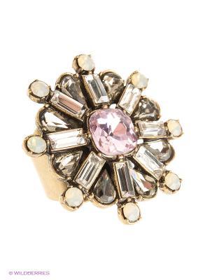 Кольцо Kameo-bis. Цвет: белый, розовый, золотистый