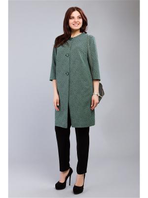 Пальто MILORI. Цвет: черный, темно-зеленый