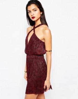 Bec & Bridge Платье мини Santal. Цвет: красный