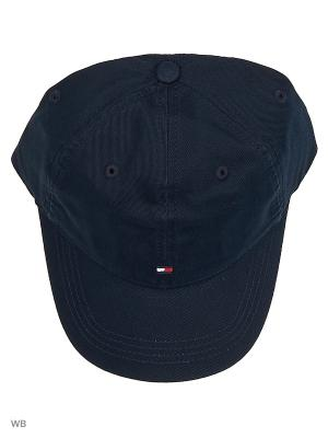 Бейсболка Tommy Hilfiger. Цвет: темно-синий