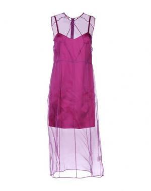 Платье длиной 3/4 BARBARA CASASOLA. Цвет: фиолетовый
