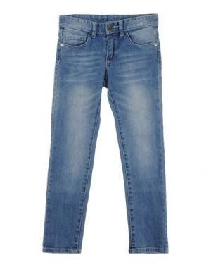 Джинсовые брюки MASH KISS. Цвет: синий